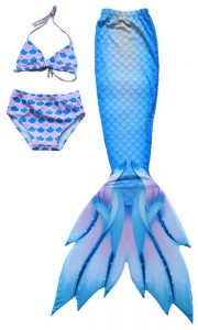 Dodger Blue Swimmable Mermaid Tail