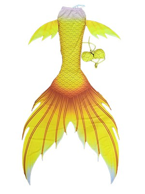 BRIGHT YELLOW MERMAID TAIL