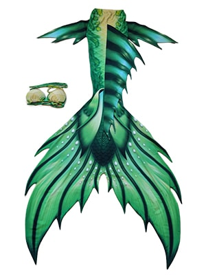 GREEN MERMAID TAIL